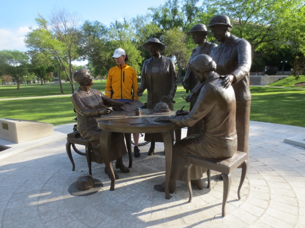 Conversing with Nellie McClung and the other women who fought to make Manitoba the first province where women had the right to vote.