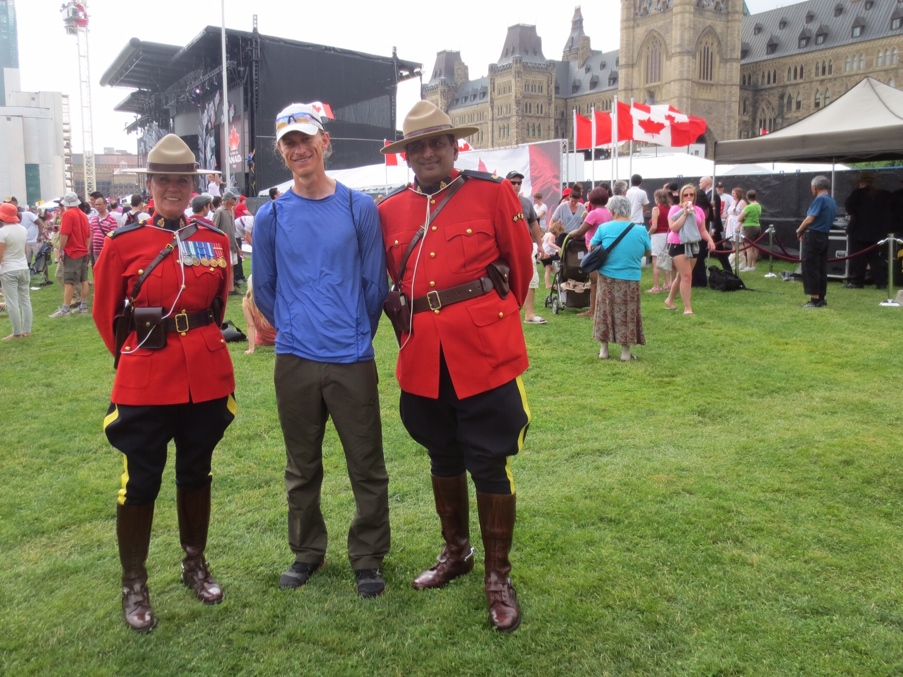 Canada Day is properly celebrated only once you get your photo with a Mountie or two