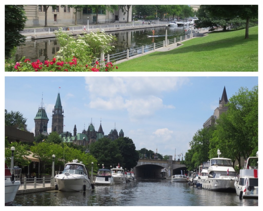The Rideau Canal was used for commercial traffic for awhile but soon only recreational boats and one of the world's longest ice rinks during the winter.