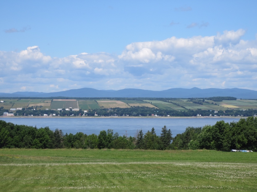 Ile d'Orleans from across the St Larwence