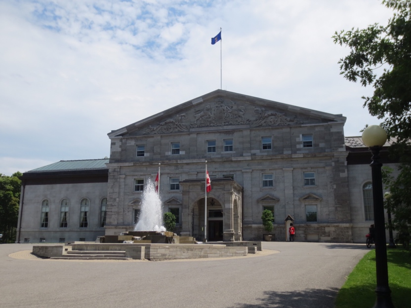 Rideau Hall, the official residence of the Governor General of Canada. The grounds are covered in trees planted by royals, heads of state, and other dignitaries that visit. Beware if you visit Canada, you'll be required to plant a tree.