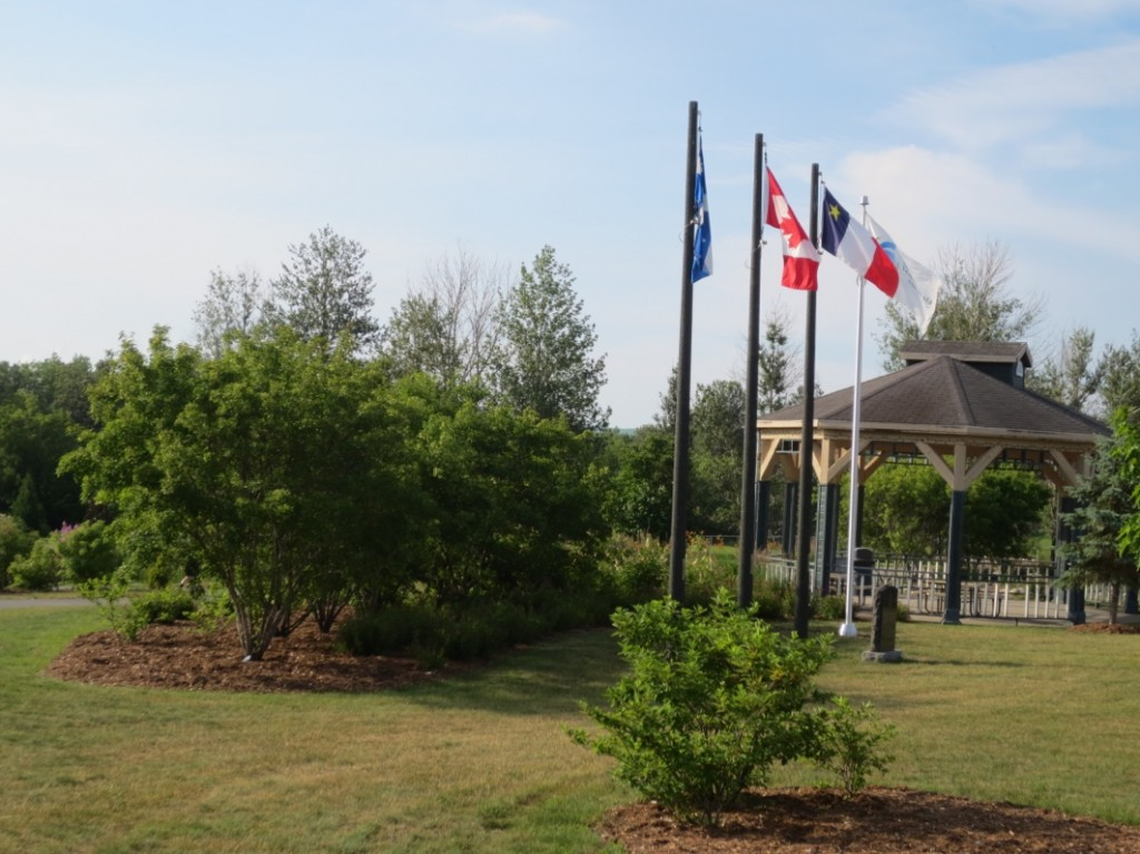 The start of the Acadian flags early in the day