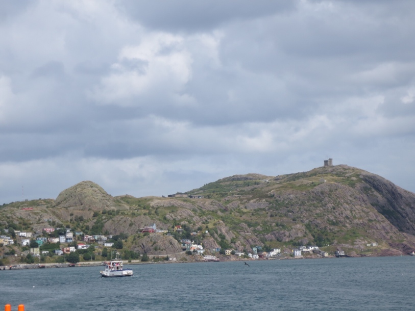 Signal Hill from the city habour