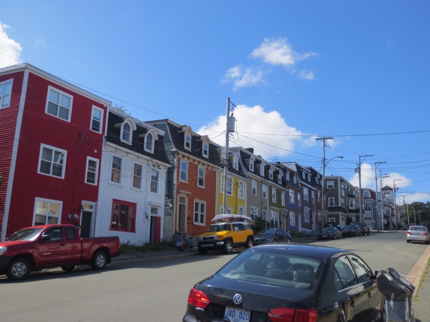 One of the distinguishing features of St. John's is the jellybean colours of the row houses lining the streets. It makes for very beautiful streets